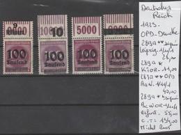 TIMBRE D ALLEMAGNE NEUF** MNH - OPD - DRUCKE Nr  VOIR PAPIER  AVEC TIMBRES  COTE 134 € - Allemagne