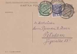 Pologne Entier Postal Tarnowskié Gory Pour L'Allemagne 1934 - Entiers Postaux