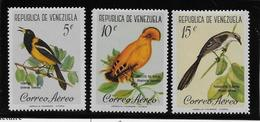 Venezuela Poste Aérienne N°741/743 - Oiseaux -  Neufs ** Sans Charnière - TB - Venezuela