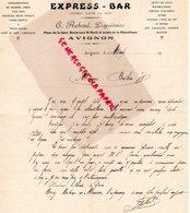 84- AVIGNON - RARE LETTRE MANUSCRITE C. REBOUL PROPRIETAIRE EXPRESS- BAR-PLACE DE LA GARE BD SAINT ROCH- - Old Professions