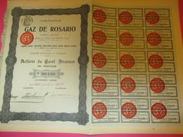 Action De 100 Francs Au Porteur Entièrement Libérée/Compagnie Du Gaz De Rosario/Paris/ARGENTINE/1912        ACT192 - Electricité & Gaz