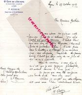 69- LYON - RARE LETTRE MANUSCRITE P. DESBOIS- GRAND CAFE DE L' UNIVERS-9 PLACE DES JACOBINS- 1913 - Old Professions