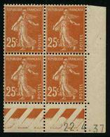 FRANCE - YT 235 ** - BLOC DE 4 TIMBRES NEUFS ** AVEC COIN DATE - Ecken (Datum)