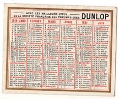 Calendrier DUNLOP 1918 - Calendriers