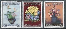 """Monaco YT 948 à 950 """" Concours De Bouquets """" 1973 Neuf** - Monaco"""