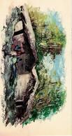 Peinture Africaine, Huile, Sur Papier (125x230 Mm) - Afrikanische Kunst