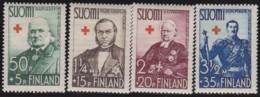 Finland  .   Yvert   .   196/199  .   *   .   Ongebruikt Met Plakker    .   / .   Neuf Avec Charniere - Finlande