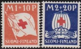 Finland  .   Yvert   .     156+158   .   *   .   Ongebruikt Met Plakker    .   / .   Neuf Avec Charniere - Finlande
