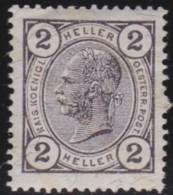 Oostenrijk   .   Yvert   .   82   .   *   .   Ongebruikt Met Plakker    .   / .   Neuf Avec Charniere - 1850-1918 Empire