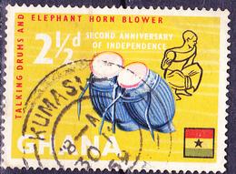 Ghana - Buschtrommel Und Elefantenhornbläser (Mi.Nr.: 43) 1959 - Gest Used Obl. - Ghana (1957-...)