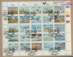 Südafrika 865-889 Zd-Bogen (kompl.Ausg.) Gestempelt 1993 Luftfahrt (9283029 - Südafrika (1961-...)
