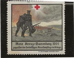VIGNETTE ALLEMAGNE 1914 -SECOURS AUX BLESSES - - Croix Rouge