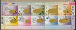 Südafrika 2027-2036 Kleinbogen (kompl.Ausg.) Gestempelt 2010 Südafrika Quiz (9283041 - Südafrika (1961-...)