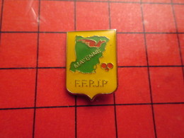 411B Pins Pin's / Rare & De Belle Qualité  THEME : SPORTS / PETANQUE MAYENNE FFPJP - Pétanque