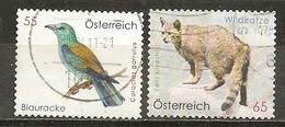 Autriche Austria 200- Oiseau Bird Wild Cat Obl - 2001-10 Oblitérés