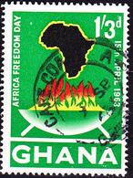 Ghana - Tag Der Afrikanischen Freiheit (Mi.Nr.: 143) 1963 - Gest Used Obl. - Ghana (1957-...)