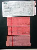 4 BILLETS Tickets De Train - S.N.C.F.  - France - Années 1981/ Et 3 Années 50/66-66 En Rose - Chemins De Fer
