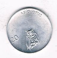 20 STOTINKOV 1993 SLOVENIE /1239/ - Slovénie