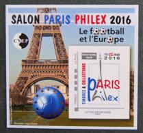 FRANCE - 2016 - BLOC CNEP N° 72** - Salon Paris - PHILEX 2016 - Le Football Et L'europe - CNEP