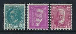 FRANCE 1933 CÉLEBRITÉS  Nº 291/293 - Neufs