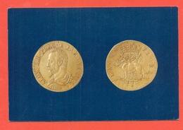 CARTOLINA RAPPRESENTANTEMONETE - MUSEO DI PIACENZA - Monete (rappresentazioni)