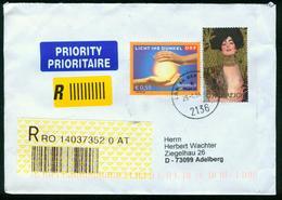 BR Österreich   2004 Reco Brief Von Laa Nach BRD, Adelberg - 2001-10 Storia Postale