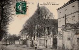 TOURS. - Quai De Portillon. Chapelle De La Bretèche. Cliché RARE - Tours