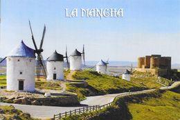 La Mancha (Espagne) - Molinos Y Castillo (Moulins à Vent Et Château) - Espagne