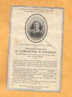 IMAGE GENEALOGIE FAIRE PART DECES  FRANCOISE GORDIENNE LAMAJORIE DE SOURSAC 1913 - Décès