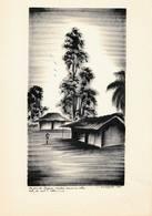 Peinture Africaine, Encre De Chine, Sur Papier  (205x315 Mm) - Art Africain