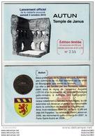 Encart Monnaie De Paris 71.Autun Le Temple De Janus 2010. Neuf - Monnaie De Paris
