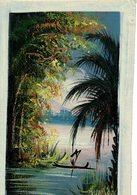 Peinture Africaine, Peinture à Huile, Sur Toile  (190x300 Mm) - African Art