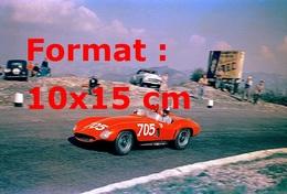Reproduction D'une Photographie Ancienne D'une Ferrari 118 LM Au Mille Miglia En 1955 - Reproductions