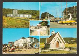 - JULLOUVILLE - ( 50 Manche) Résidence De La Falaise, La Plage Et Le Casino, Le Club Nautique, La Chapelle (1983) - France