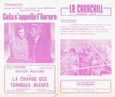 LIEGE 1956 - Programme Cinéma LE CHURCHILL En 2 Volets - M. CHEVALIER & VITTORIO DE SICA Dans Un Siècle D'Amour - - Programmes