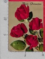 CARTOLINA VG ITALIA - FIORI - Rose Rosse - CECAMI 865 - 10 X 15 - ANN. 1965 - Fiori