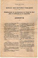 VP14.516 - Ville De Lyon 1923 - Affichette - Le Maire - Arrêté Concernant Le Service Des Voitures Publique à LYON - Posters