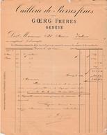 Facture 1903 / GOERG Frères / Tailleur Pierres Fines / Genève Suisse - Suisse