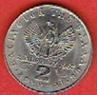 GREECE #  2 Drachmai - Constantine II National Revolution; Regime Of The Colonels  FROM 1967 - Grèce