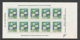 FINLANDE 1996 - CARNET  YT C1312 - Facit MA1350 - Neuf ** MNH - Fleurs, Série Courante SVI - Finnland