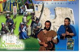 CPM, (44), Animations Estivales 2007 à HERBIGNAC, Chateau RANROUET, Jamais Voyagée, Moyen-age - Herbignac
