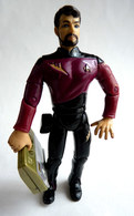 FIGURINE PLAYMATES TOYS 1992 STAR TREK NEXT GENERATION - Cdt WILLIAM RIKER AVEC MALETTE - Star Trek