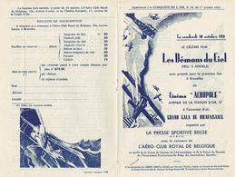 """BRUXELLE 1931 - Programme Cinéma """"ACROPOLE"""" En 2 Volets - Les Démons Du Ciel D'Horward Hughes - Programmes"""