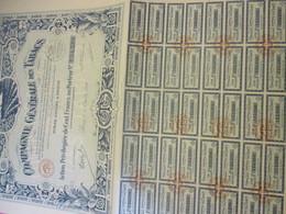 Action Ordinaire De 100  Francs  Au Porteur Entièrement Libérée /Compagnie Générale Des Tabacs /1927         ACT194 - Agricoltura