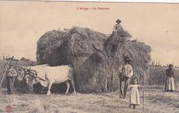 CPA (09) L' Ariège La Fenaison Travaux Agricoles Agriculture Attelage De Boeufs Paysan (2 Scans) - France
