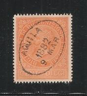 ITALIA Regno - 1874 - RICOGNIZIONE POSTALE  Effigie V. E. II° - Valore Usato Da 10 C. Bistro - In Buone Condizioni. - 1861-78 Vittorio Emanuele II