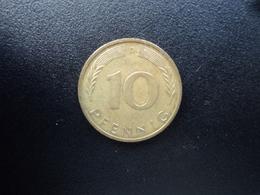 RÉPUBLIQUE FÉDÉRALE ALLEMANDE : 10 PFENNIG   1973 D   KM 108     SUP - 10 Pfennig