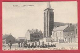 Hornu  - La Grand'Place ... Jolie Animation - 1906 ( Voir Verso ) - Boussu