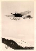 Aviation - Avion Avec Skis Du Suisse  René Grandjean -  Avec Signature De L'aviateur - Aviation