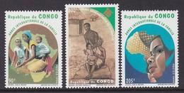 SERIE NEUVE DU CONGO - ANNEE INTERNATIONALE DE LA FAMILLE N° Y&T 998 A 1000 - Timbres